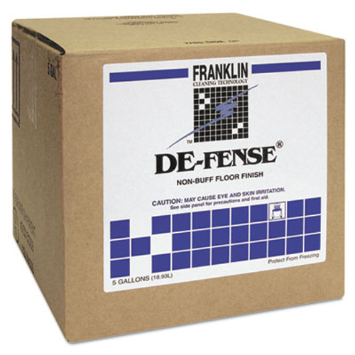 Franklin Cleaning Technology DE-FENSE Non-Buff Floor Finish, Liquid, 5 gal. Box (FRK F135025)
