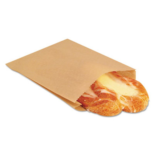 Bagcraft NK25 EcoCraft Grease-Resistant Sandwich Bag, 6 1/2 x 1 x 8, Natural, 2000/Carton (BGC 300100)