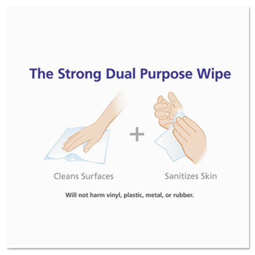 PURELL Sanitizing Hand Wipes, 6 x 6 3/4, White, 270/Canister, 6 Canisters/Carton (GOJ 9113-06)
