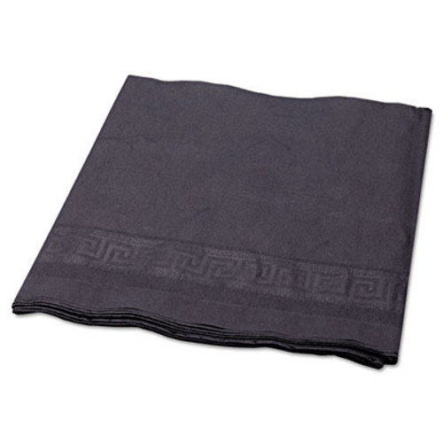 """Hoffmaster Tissue/Poly Tablecovers, 54"""" x 108"""", Black, 25/Carton (HFM 220613)"""