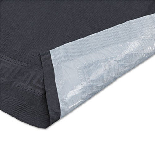 "Hoffmaster Tissue/Poly Tablecovers, 54"" x 108"", Black, 25/Carton (HFM 220613)"