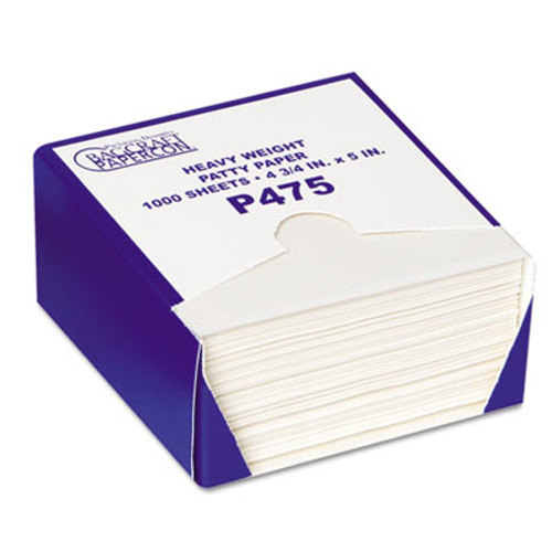 Bagcraft P475 DryWax Patty Paper Sheets, 4 3/4 x 5, White, 1000/Box, 24 Boxes/Carton (BGC 051475)