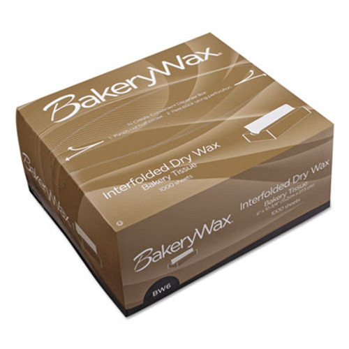 Bagcraft EcoCraft Interfolded Dry Wax Bakery Tissue,8x 10 3/4, White,1000/Box,10 Box/Crtn (BGC 010008)