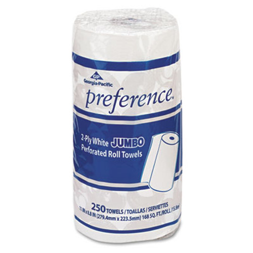 Georgia Pacific Perforated Paper Towel, 8 4/5 x 11, White, 250/Roll, 12 Rolls/Carton (GPC 277)