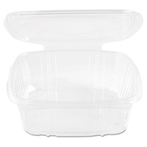 Genpak Clear Hinged Deli Container, Plastic, 48 oz, 8 x 8-1/2 x 2-1/2, 100/BG, 2 BG/CT (GNP AD48)