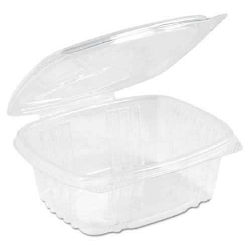 Genpak Clear Hinged Deli Container, Plastic, 12 oz, 5-3/8 x 4-1/2 x 2-1/2, 200/Carton (GNP AD12)