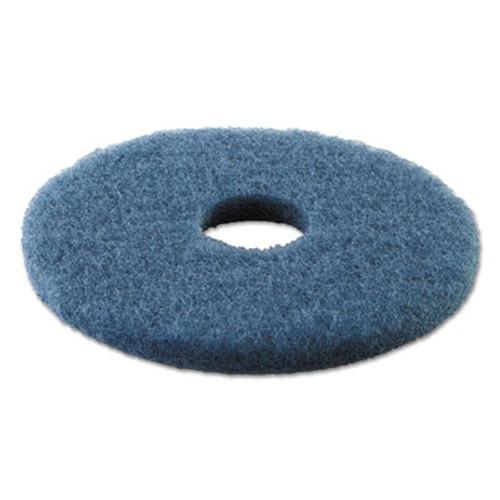 "Boardwalk Standard Scrubbing Floor Pads, 13"" Diameter, Blue, 5/Carton (PAD 4013 BLU)"