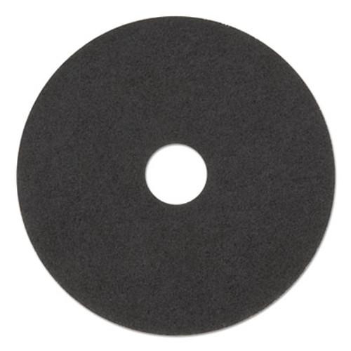 "Boardwalk Ultra High-Speed Natural Hair Floor Pads, 15"" Diameter, Black, 5/Carton (PAD 4015 BLA)"
