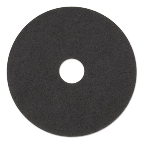 "Boardwalk Ultra High-Speed Natural Hair Floor Pads, 15"" Diameter, Black, 5/Carton (PAD 4015 BLA)"