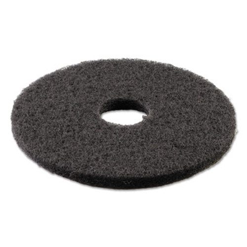 "Boardwalk Standard Stripping Floor Pads, 14"" Diameter, Black, 5/Carton (PAD 4014 BLA)"