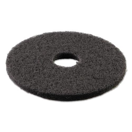 "Boardwalk Standard Stripping Floor Pads, 14"" Diameter, Black, 5/Carton (PAD 4014 BLA)"