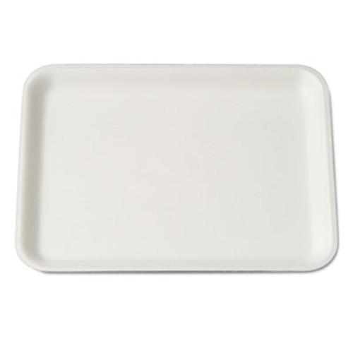 Genpak Supermarket Tray, Foam, White, 9-1/4x7-1/4x1/2, 125/Bag (GNP 4SWH)