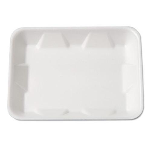 Genpak Supermarket Tray, Foam, White, 9-1/4 x 7-1/4 x 4/5, 125/Bag (GNP 4DWH)