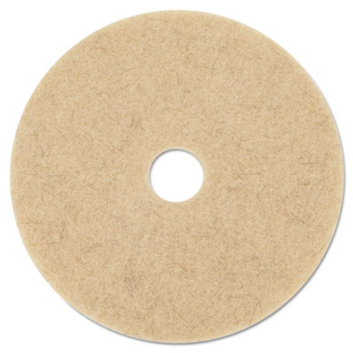 "3M Ultra High-Speed Natural Blend Floor Burnishing Pads 3500, 27"" Dia., Tan, 5/CT (MCO 20317)"
