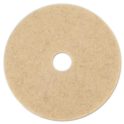 "3M Ultra High-Speed Natural Blend Floor Burnishing Pads 3500, 27"" Dia., Tan, 5/CT (MCO 20317)"