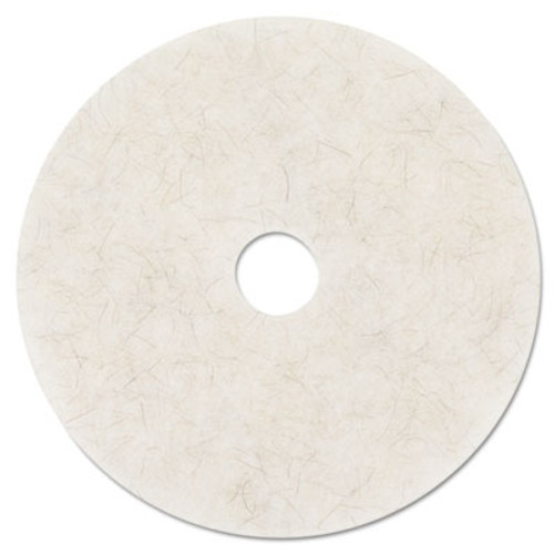 "3M Ultra High-Speed Natural Blend Floor Burnishing Pads 3300, 27"" Dia., White, 5/CT (MCO 20326)"