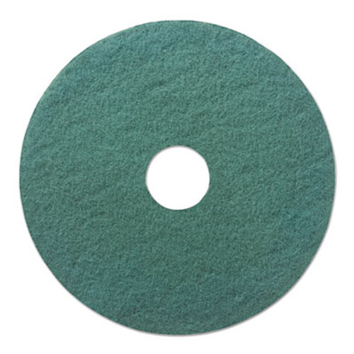 "Boardwalk Standard Heavy-Duty Scrubbing Floor Pads, 18"" Diameter, Green, 5/Carton (PAD 4018 GRE)"