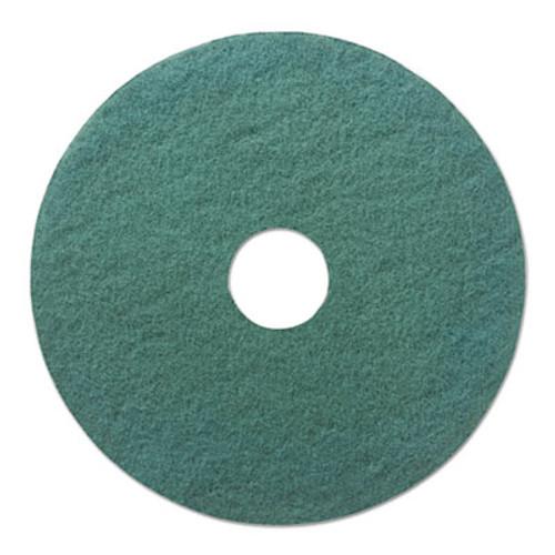 """Boardwalk Standard Heavy-Duty Scrubbing Floor Pads, 18"""" Diameter, Green, 5/Carton (PAD 4018 GRE)"""
