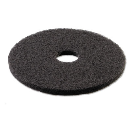 "Boardwalk Standard Stripping Floor Pads, 18"" Diameter, Black, 5/Carton (PAD 4018 BLA)"