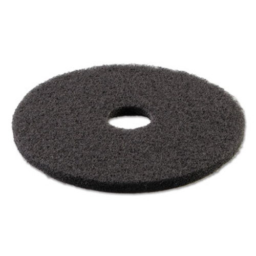 "Boardwalk Standard Stripping Floor Pads, 21"" Diameter, Black, 5/Carton (PAD 4021 BLA)"