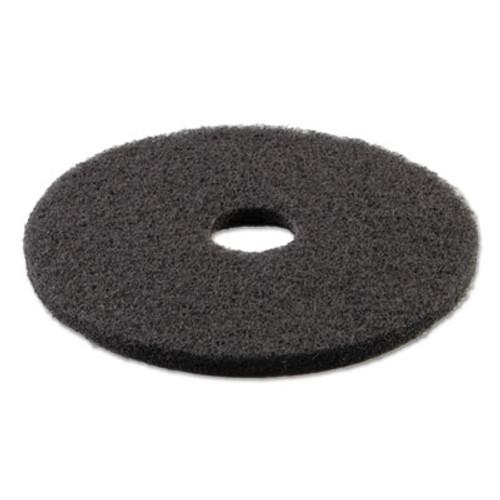 "Boardwalk Standard Stripping Floor Pads, 21"" Diameter, Black, 5/Carton (PAD 4021 BLA)"