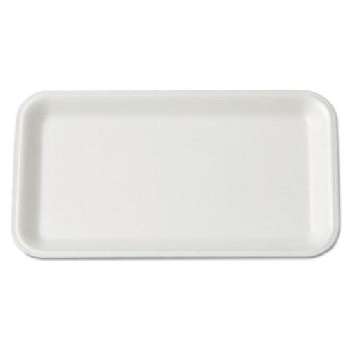 Genpak Supermarket Tray, Foam, White, 8-1/4x4-3/4, 125/Bag (GNP 17SWH)