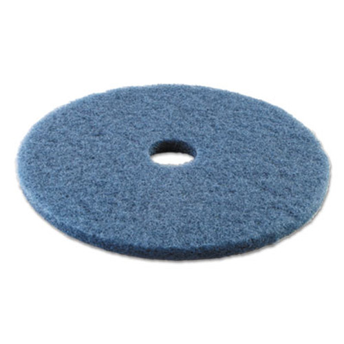 "Boardwalk Standard Scrubbing Floor Pads, 20"" Diameter, Blue, 5/Carton (PAD 4020 BLU)"