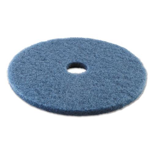 "Boardwalk Standard Scrubbing Floor Pads, 20"" Diameter, Blue, 5/Carton (PAD 4020 BLU)"