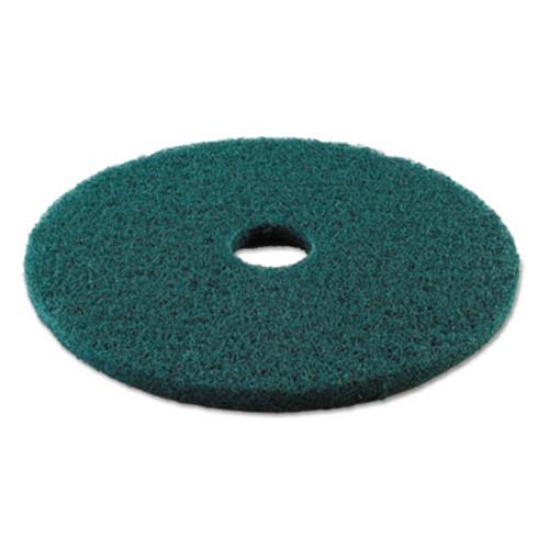 """Boardwalk Standard Heavy-Duty Scrubbing Floor Pads, 19"""" Diameter, Green, 5/Carton (PAD 4019 GRE)"""