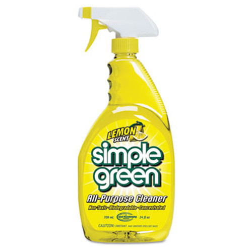 Simple Green Industrial Cleaner & Degreaser, Concentrated, Lemon, 24 oz Bottle, 12/Carton (SMP 14002)