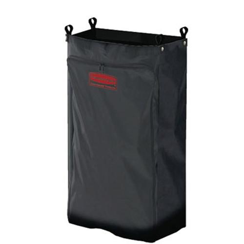 Rubbermaid Heavy-Duty Fabric Cleaning Cart Bag, 17 1/2w x 10d x 26 1/2h, Black (RCP 6187 BLA)