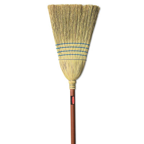Rubbermaid Warehouse Corn-Fill Broom, 38-in Handle, Blue (RCP 6383)