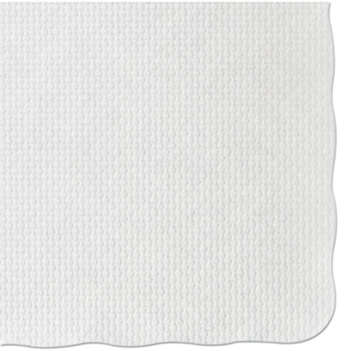 Hoffmaster Knurl Embossed Scalloped Edge Placemats, 9 1/2 x 13 1/2, White, 1000/Carton (HFM PM32052)