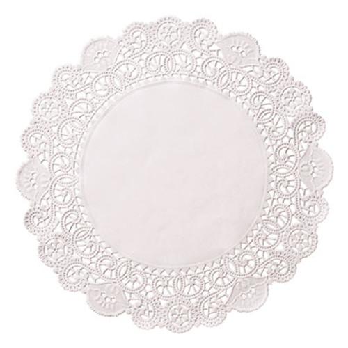 "Hoffmaster Brooklace Lace Doilies, Round, 6"", White, 2000/Carton (HFM LA906-2M)"