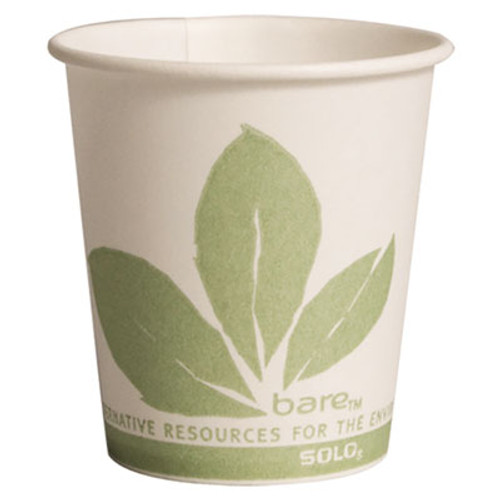 Dart Bare Eco-Forward Paper Treated Water Cups, 3oz, Cold, 100/Sleeve, 50 Sleeves/CT (SCC 44BB)