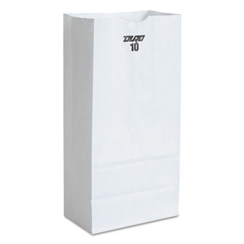 General #10 Paper Grocery Bag, 35lb White, Standard 6 5/16 x 4 3/16 x 13 3/8, 500 bags (BAG GW10-500)