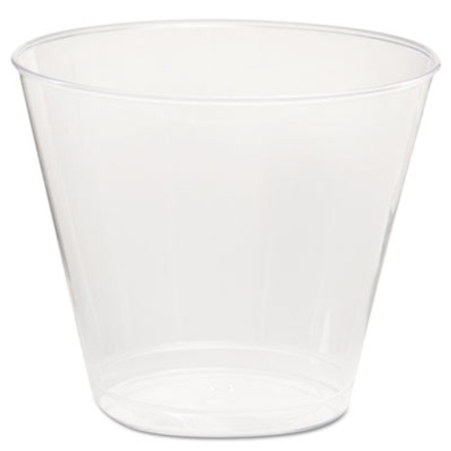 WN Comet Plastic Tumbler, 5 oz., Clear, Squat, 50/Pack (WNA T5S)