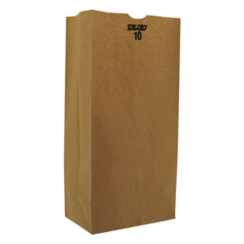 General #10 Paper Grocery, 57lb Kraft, Extra-Heavy-Duty 6 5/16x4 3/16 x13 3/8, 500 bags (BAG GX10-500)
