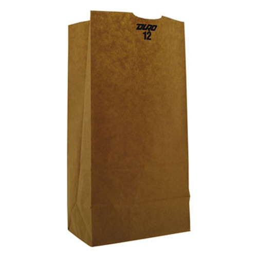 General #12 Paper Grocery Bag, 50lb Kraft, Heavy-Duty 7 1/16 x 4 1/2 x 13 3/4, 500 bags (BAG GH12)