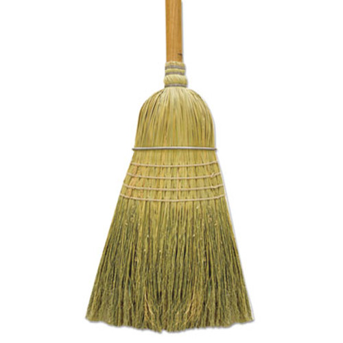 "Boardwalk 100% Corn Warehouse Brooms, 60"", Black/Natural, 6/Carton (BWK BR10001)"