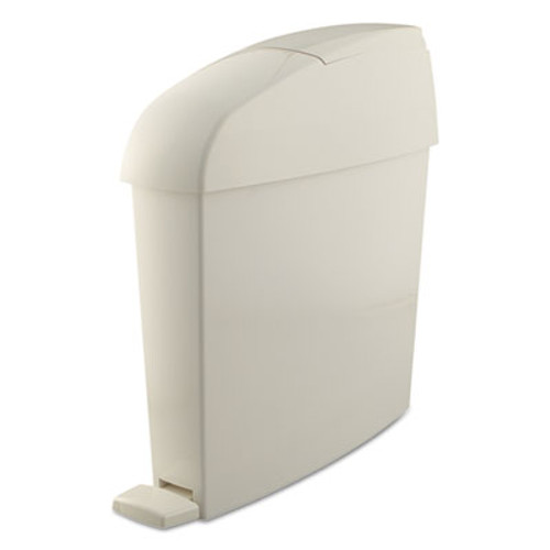 Rubbermaid Sanitary Bin, Rectangular, Plastic, 3 gal, White (RCP 750243)