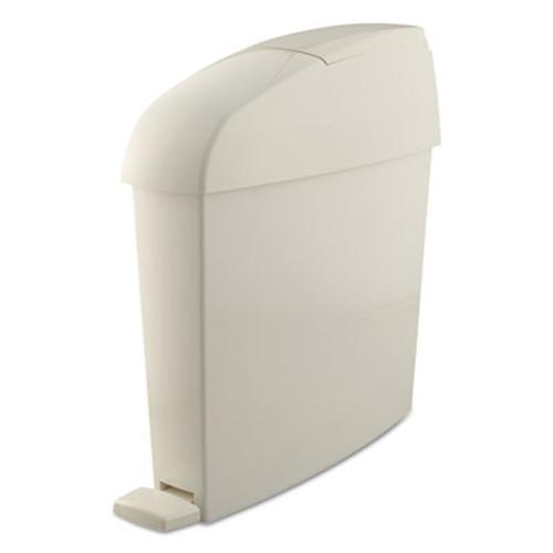 Rubbermaid Sanitary Bin, Rectangular, Plastic, 3 gal, White (RCP 750243)