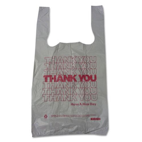 Barnes Paper Company Thank You High-Density Shopping Bags, 10w x 5d x 19h, White, 2000/Carton (BPC 10519THYOU)