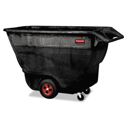 Rubbermaid Structural Foam Tilt Truck, Rectangular, 1250 lb. Cap., Black (RCP 9T15 BLA)