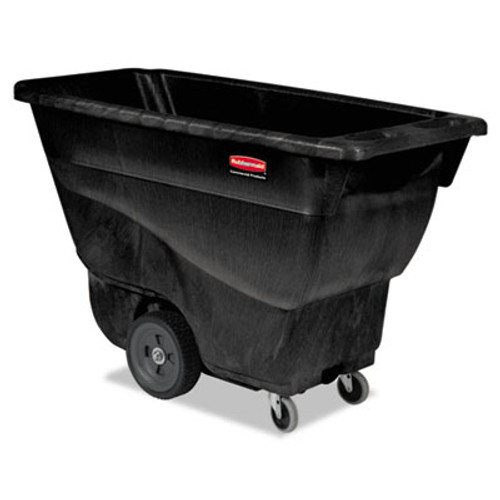 Rubbermaid Structural Foam Tilt Truck, Rectangular, 450 lb. Cap., Black (RCP 9T13 BLA)