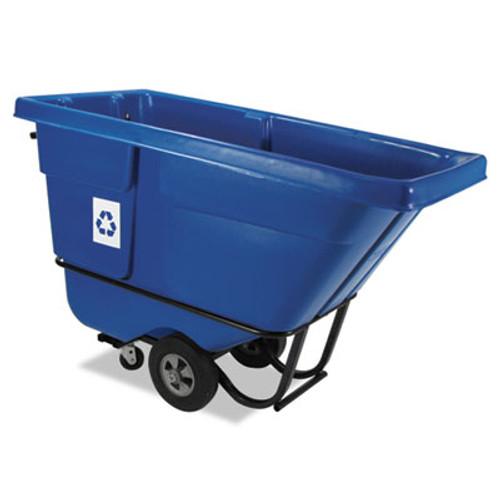 Rubbermaid Rotomolded Recycling Tilt Truck, Rectangular, Plastic, 850 lb. Cap., Blue (RCP 1305-73 BLU)