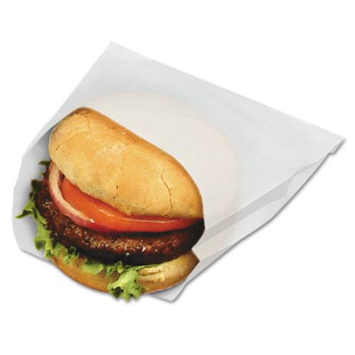 Bagcraft PB18/8 Grease-Resistant Sandwich Bags, 6w x 3/4 x 6 1/2h, White, 1000/Pk, 8/CT (BGC 300410)