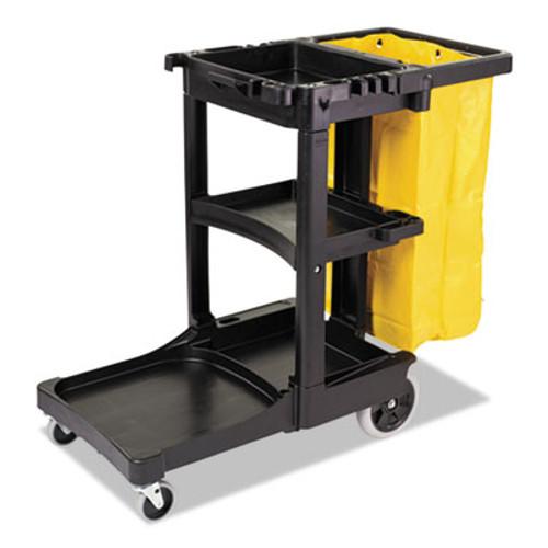 Rubbermaid Multi-Shelf Cleaning Cart, Three-Shelf, 21-3/4w x 46d x 38-3/8h, Blue (RCP 6173-88 BLU)