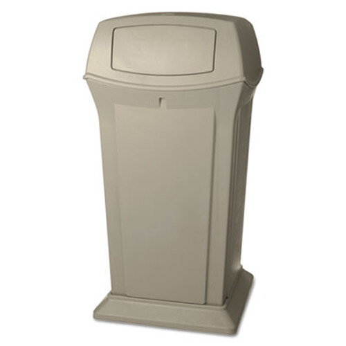 Rubbermaid Ranger Fire-Safe Container, 65 gal, Beige, Structural Foam (RCP 9175 BEI)