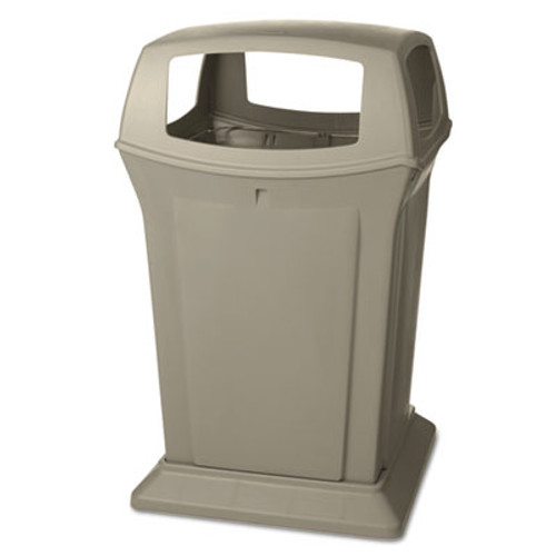 Rubbermaid Ranger Fire-Safe Container, Square, Structural Foam, 45 gal, Beige (RCP 9173-88 BEI)
